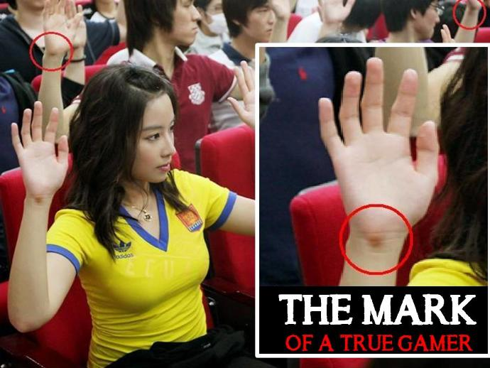 Do you have the mark of a true gamer?