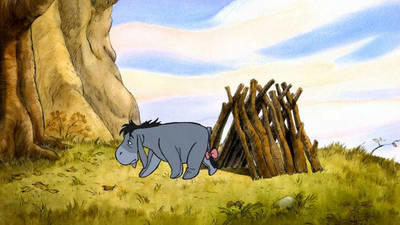 Why is Eeyore not only depressed but homeless too?