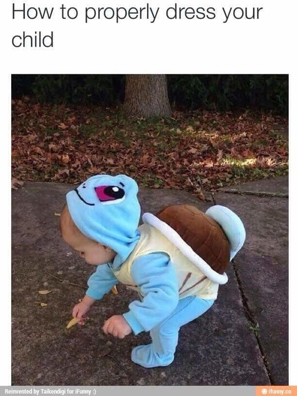 Who else will dress their kid like this?