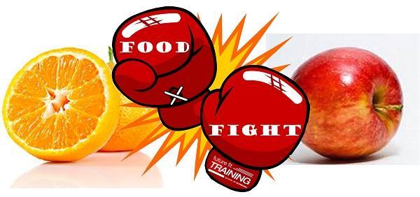 Food Fight: Orange vs Apple !!  Who do you pick ?