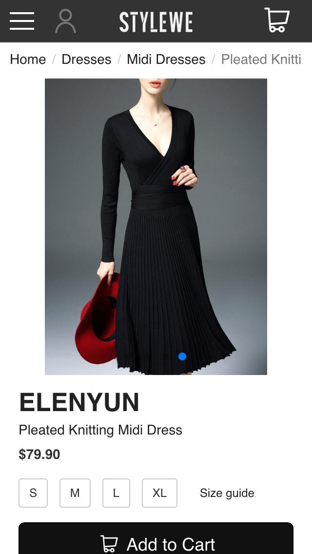 Is this dress appropriate for a woman with a large chest?