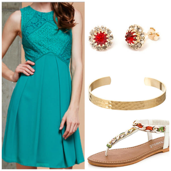 Which of these outfits is better for a summer beach wedding?