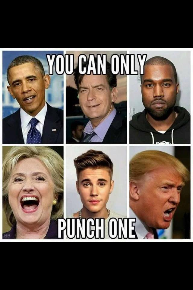 If you can only punch one in the face who would you pick?