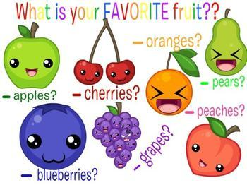 Name 3 of your favourite FRUIT?