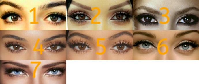 Who has the most beautiful eyes?