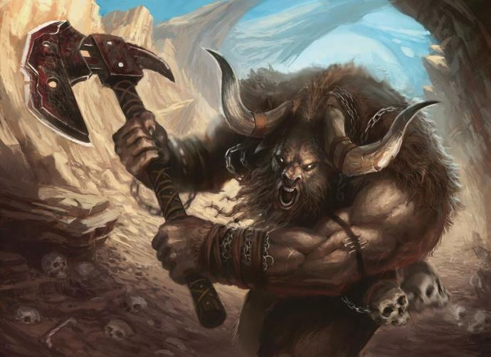 You are out walking one day and suddenly a Minotaur starts charging towards you like a bull. what do you do?