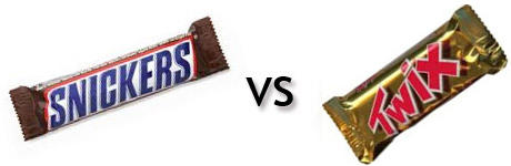 Twix vs Snickers, which do you like more?