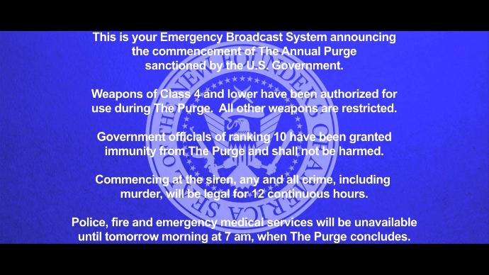 Would you survive the annual purge?