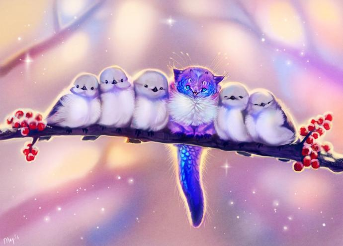 Which one of these fantasy art pieces do you think is the most cute?