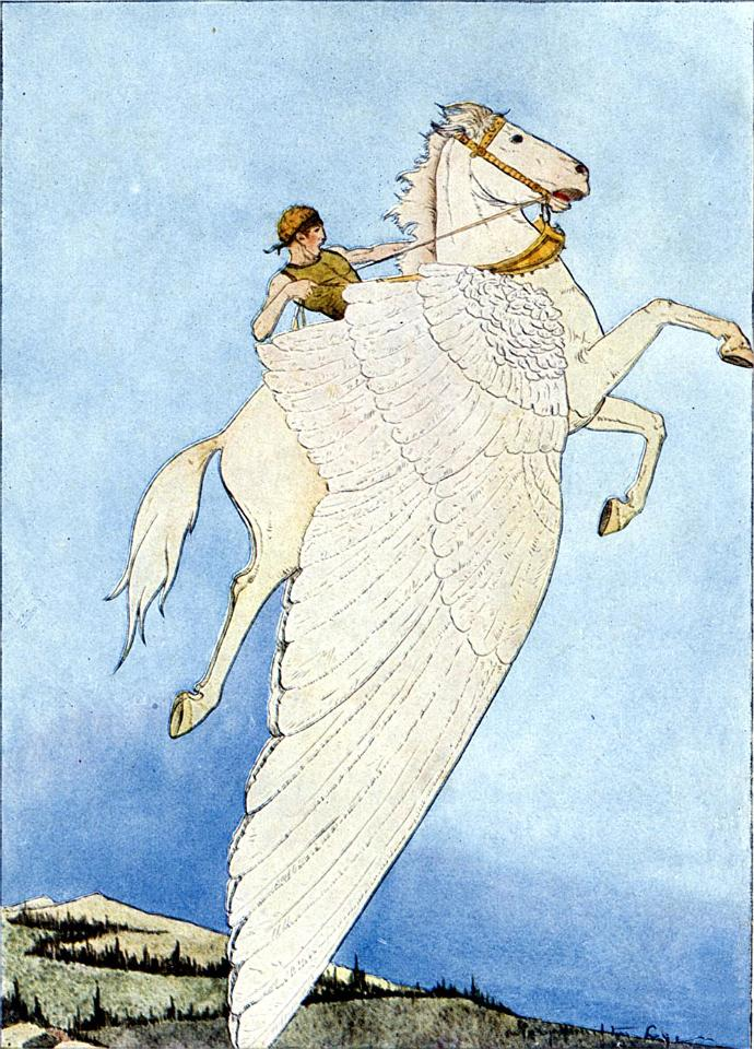 Girls, if a hot dude riding on a Pegasus landed near you and offered you a ride, would you accept?