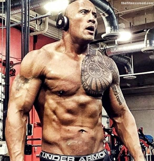 Is the Rock to ripped?