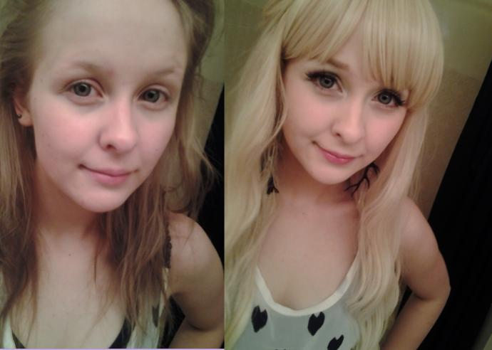 Guys, would you prefer an average-looking girl with no/very minimal makeup on, or the same girl with makeup on that makes her look above-average?