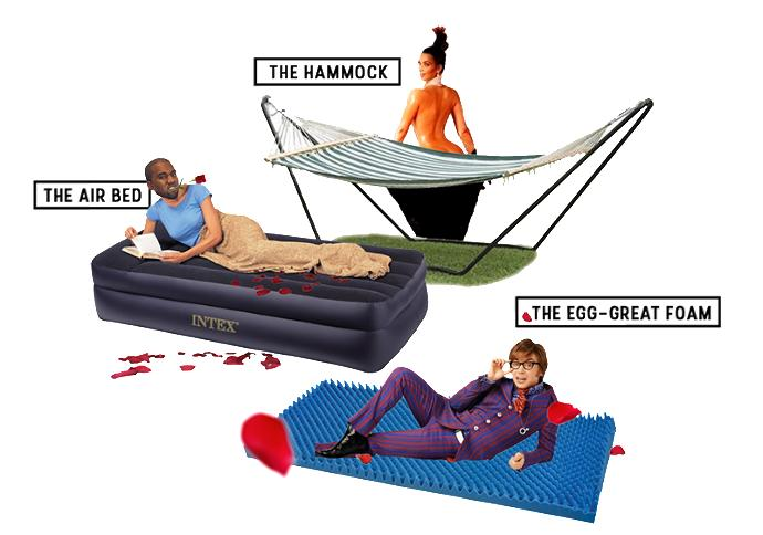 Would you rather nap on an airbed, hammock, or egg crate foam?