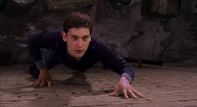 What would you do if you saw a grown man crawling on the walls outside of your house like a spider?