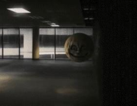 How would you react if this creepy looking moon/ball was following towards you at a dark alley?