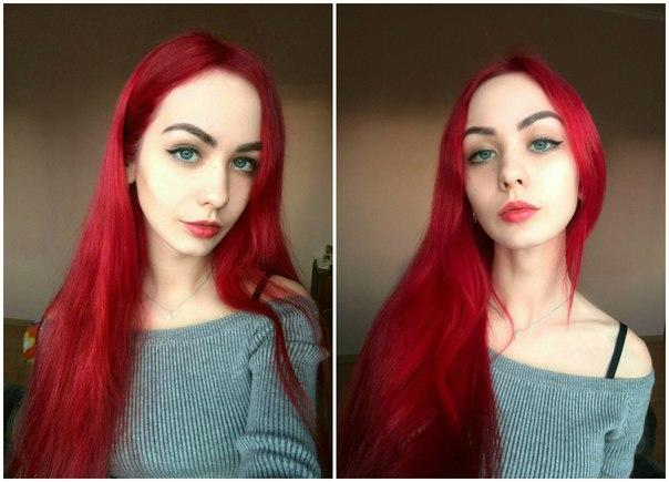 Guys, Do you like these girls with red hair or would you choose natural hair colour?