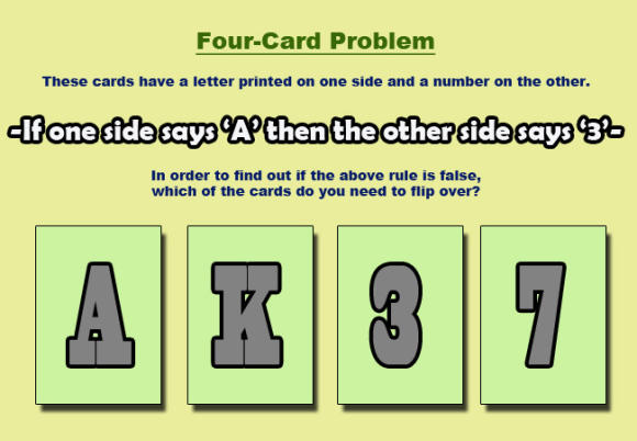 Which card(s) must you turn over to verify if the rule has been followed?