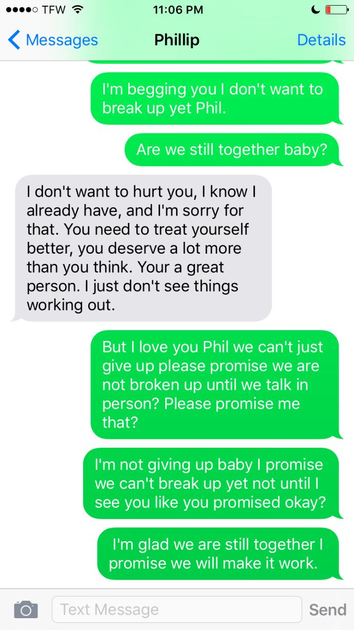 Is he breaking up with me?