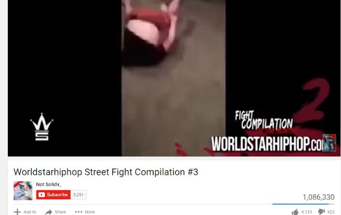 Why do people deny that they watch worldstarhiphop fight videos even though they have millions and millions of views sometimes?