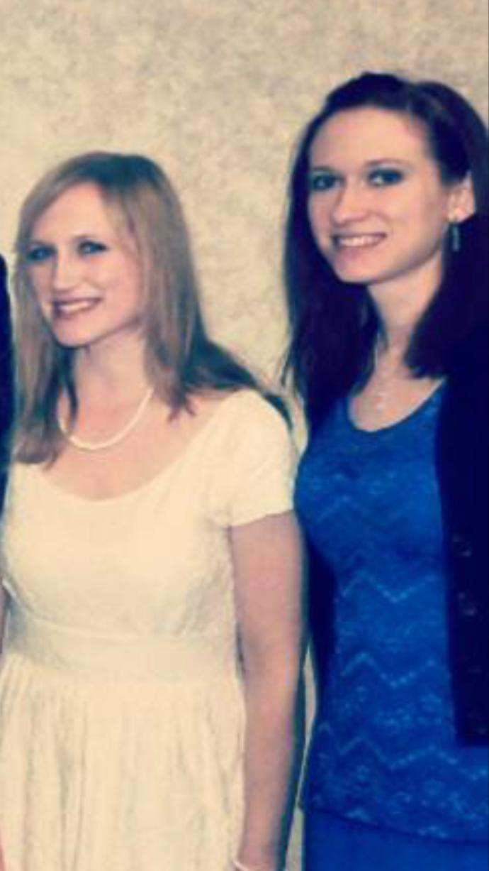 My sister is so beautiful compared to me.(I'm the blonde, she has red hair) I have such a hard time. Does my face look really wide compared to hers?