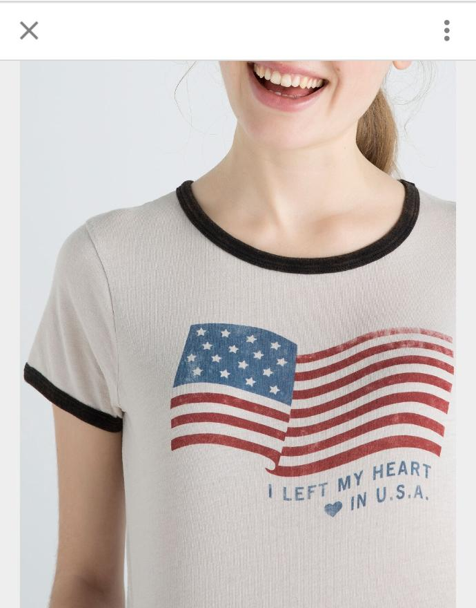 Got this shirt with an American flag pic as a present, do you think it's OK to wear it?