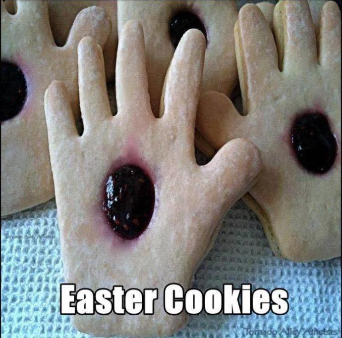 Is this taking Easter cookies to far (no offence meant)?