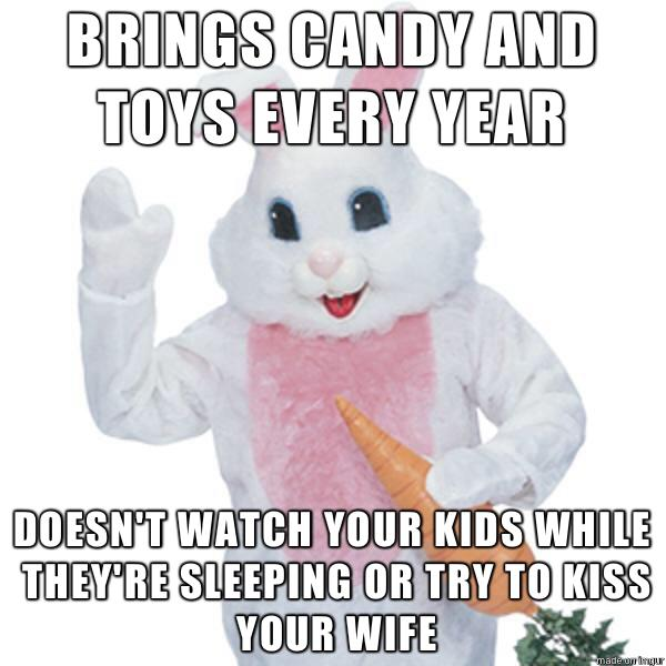 If you met the Easter Bunny what would you do or say to him?