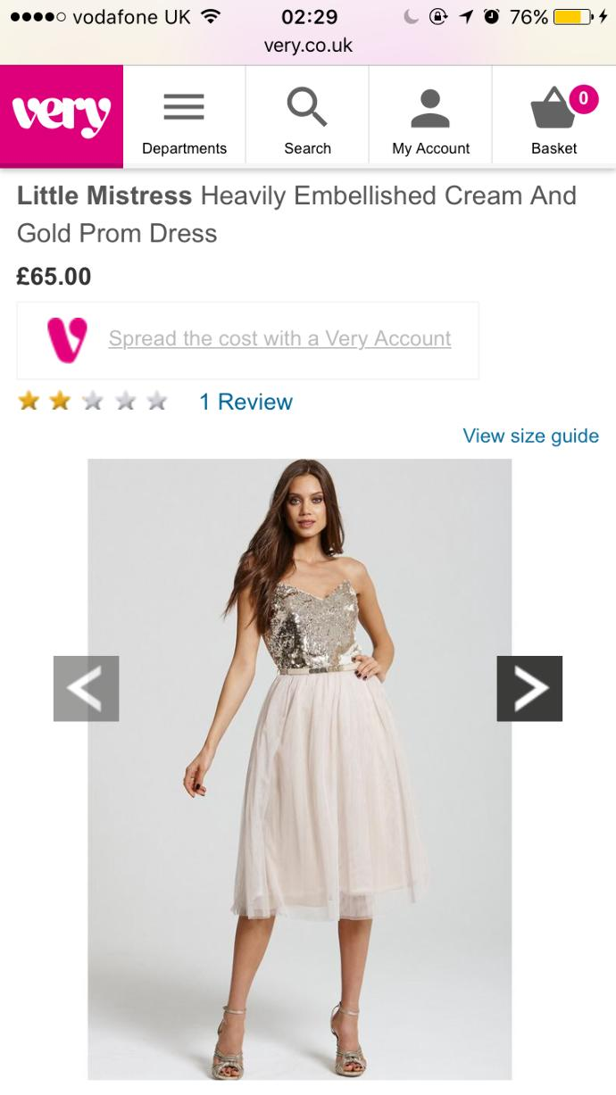 Which dress shall I get for my birthday?