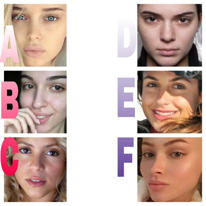 Which girl is the prettiest with NO MAKE UP?
