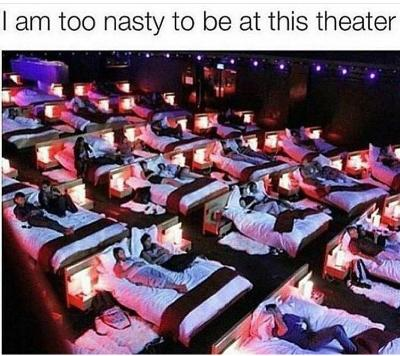 How long would you last in this movie theatre with your