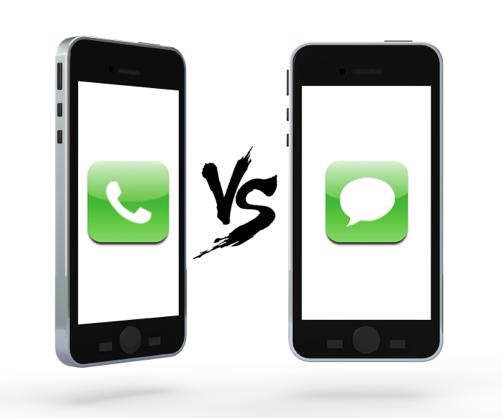Do you prefer calling/being called or texting/being texted?