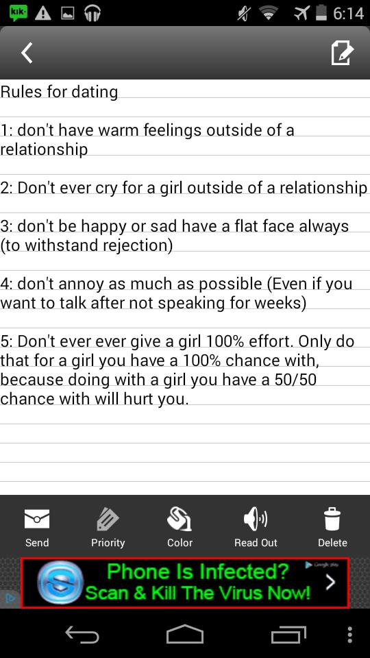 Are these good dating rules to go by?