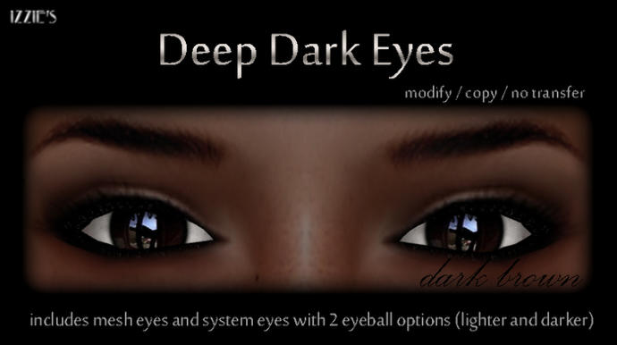 Do you find deep dark brown eyes attractive?