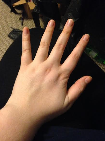 How would you describe the length/width/size of my fingers/hands?