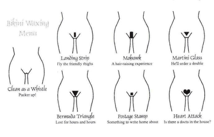 Guys, Which pubic hair shape do you prefer on a woman?