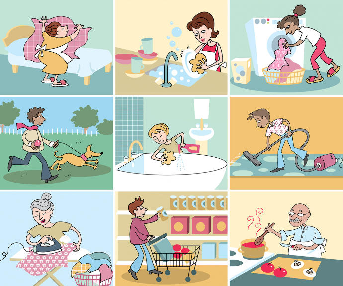 What is your housework routine?