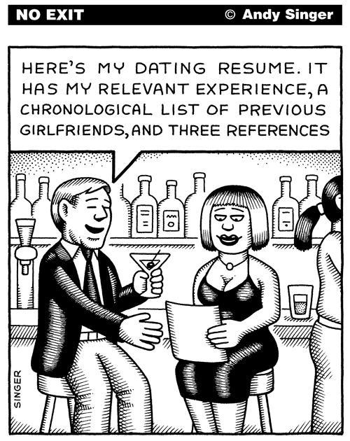 How would you feel if you went on a first date with someone and they showed up with a 'Dating Resume' in their hands?