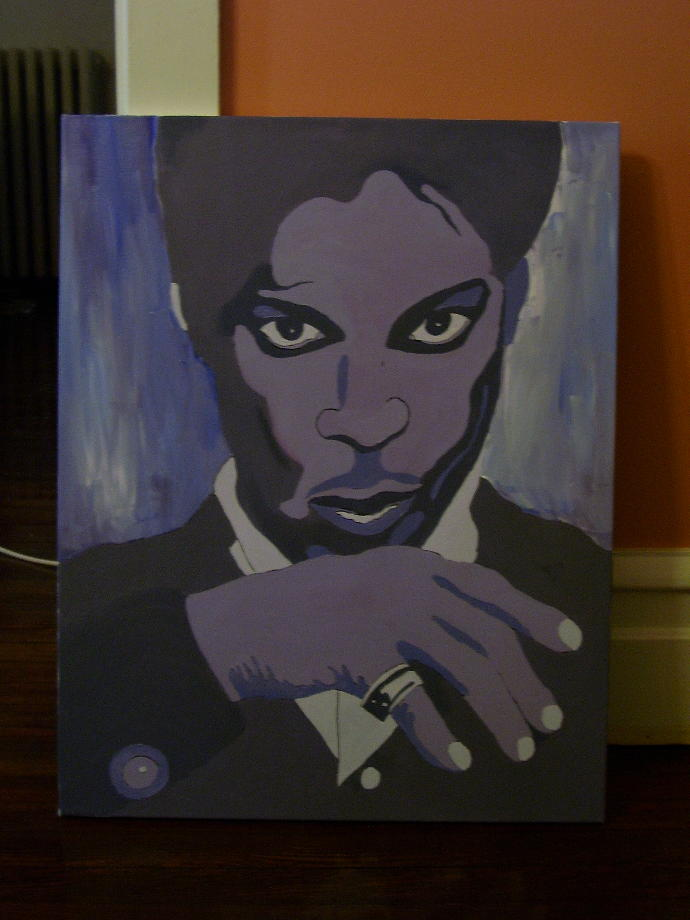What do you think of my Prince tribute painting?