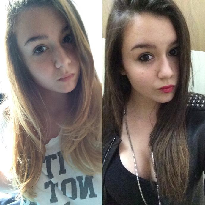 Blonde or brunette is better looking on me?