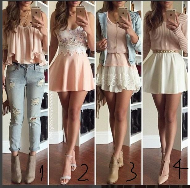 Guys, wich of these flirty outfits is the sexiest for a first date with a guy that I have been crushing on for a long time?