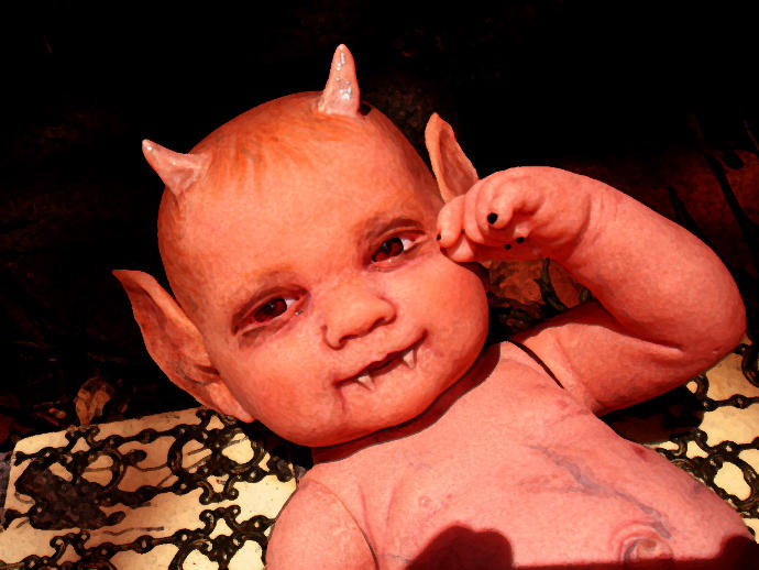 Girls, what would you do if you gave birth to a Demon Baby?