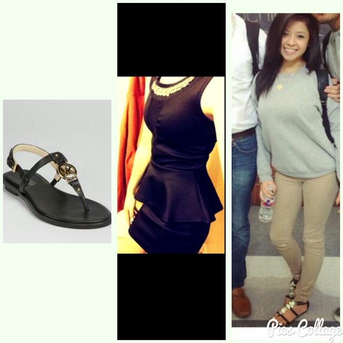 Girls, would she look good wearing this dress and sandals together? Should her toe polish match the outfit like a matte black? Honest opinions.!?