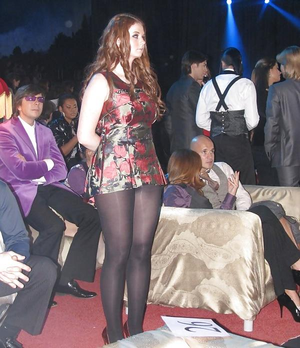 Is that pantyhose ok for her ?  What do you think about her?