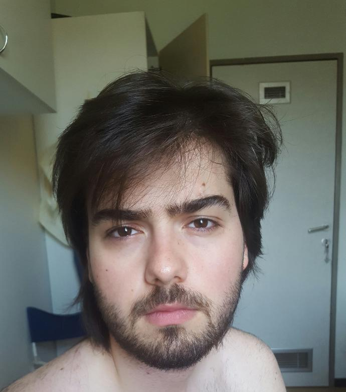 Should i grow beard and cut hair? Or any earring can be good?