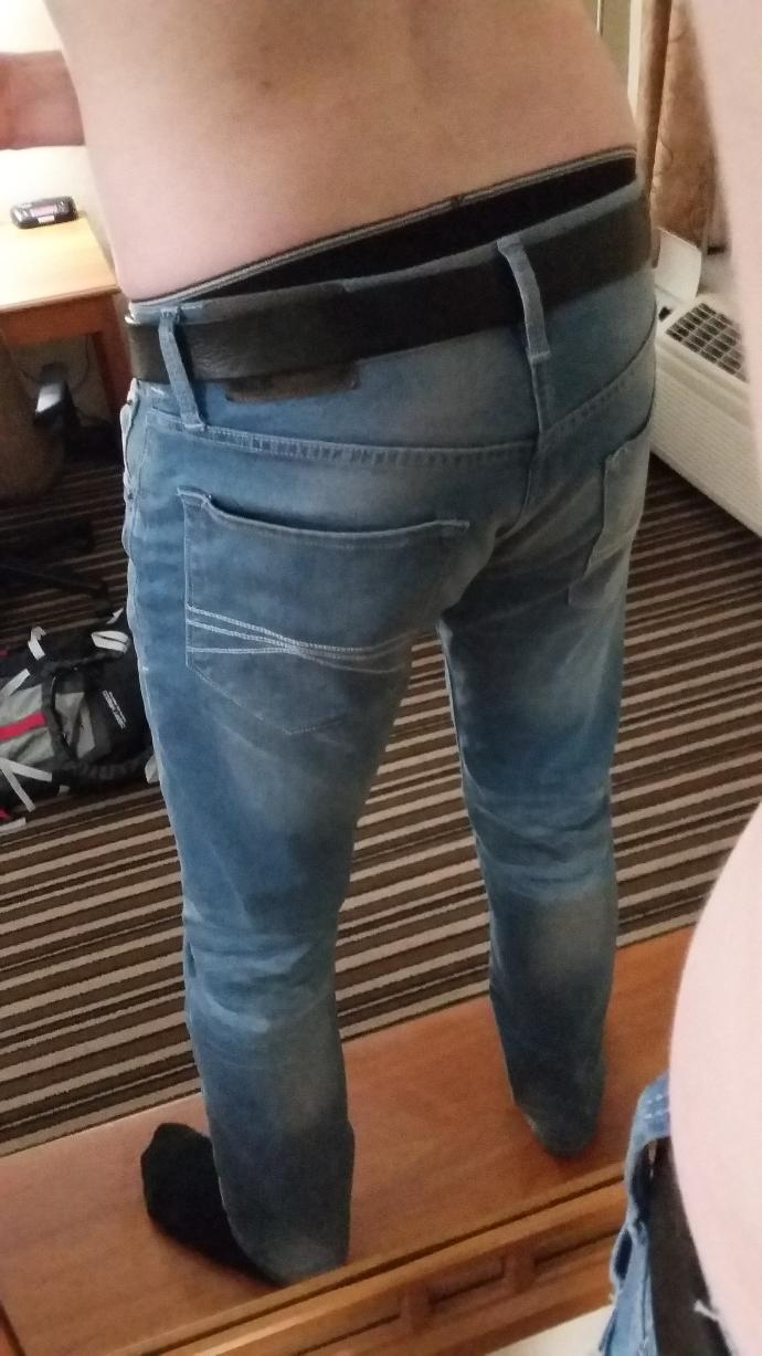 Girls, What do you think of these jeans on me?