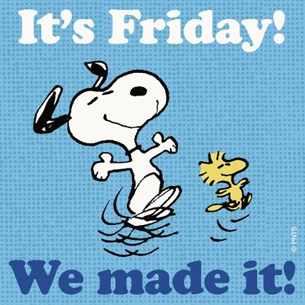 Yes! Its friday! What are you eating today!?