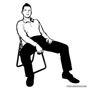 Guys, when you sit like this on a date (picture) but without the left hand in the crotch area, what is that a sign of? Happens to me a lot on dates. ?