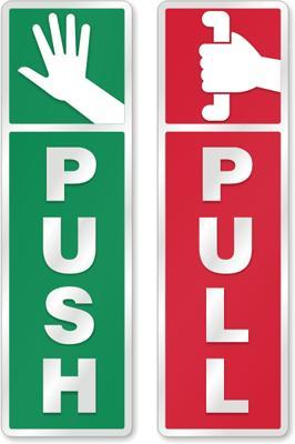 When opening a door, do you prefer pulling or pushing it?
