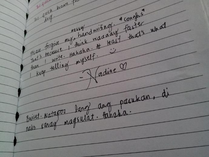 Hey weirdos, dare to post a pic of your handwriting XD?