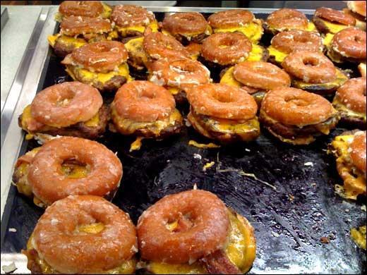 Would you eat one of these Krispy Kreme doughnut burgers?